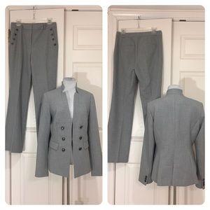 White House Black Market gray Pantsuit